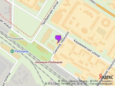 метро рыбацкое на карте петербурга
